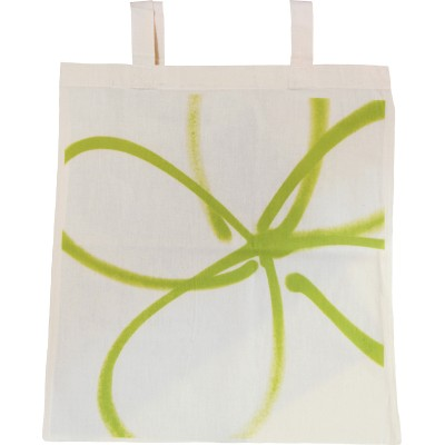 Forget-me-not green tote bag